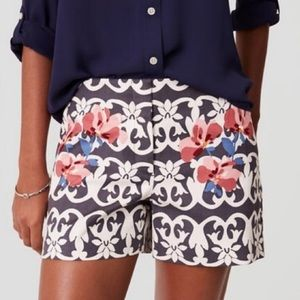 NWOT Loft floral Riviera 4in shorts